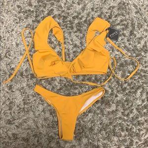 Yellow Zaful swimsuit
